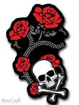 Toppa red foil roses studded-10cm